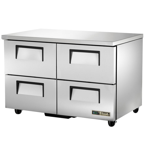 True TUC-48D-4-ADA-HC 48 inch ADA Height Undercounter Refrigerator with Four Drawers