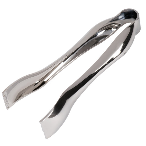 Sabert UM72STNG 6 1/4 inch Disposable Silver Plastic Serving Tongs - 6 / Pack