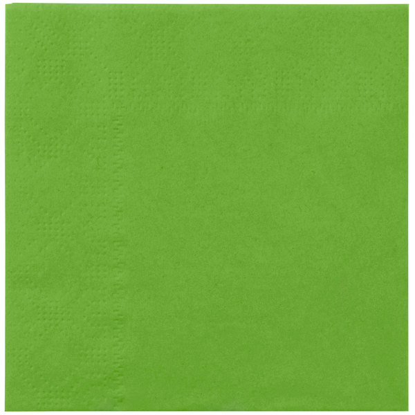 Hoffmaster 180361 Fresh Lime Beverage / Cocktail Napkin - 1000 / Case