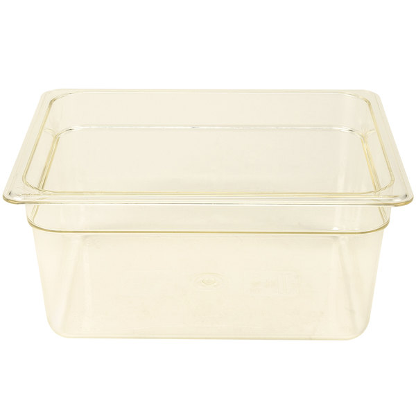 Cambro 26HP150 H-Pan 1/2 Size Amber High Heat Food Pan - 6 inch Deep
