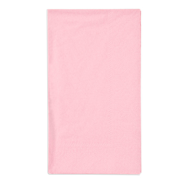 Hoffmaster 180527 Pink 15 inch x 17 inch Paper Dinner Napkins 2-Ply - 125 / Pack