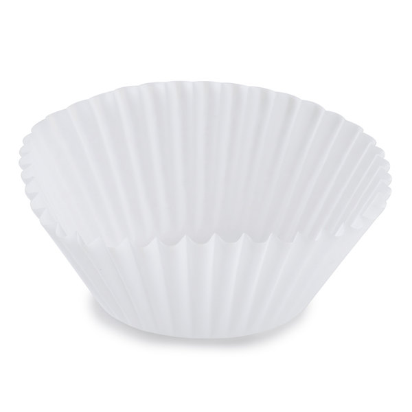 White Fluted Baking Cup 1 7/8 inch x 1 5/16 inch - 10,000 / Case