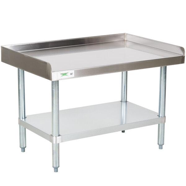Regency 30 inch x 36 inch 16-Gauge Stainless Steel Equipment Stand with Galvanized Undershelf