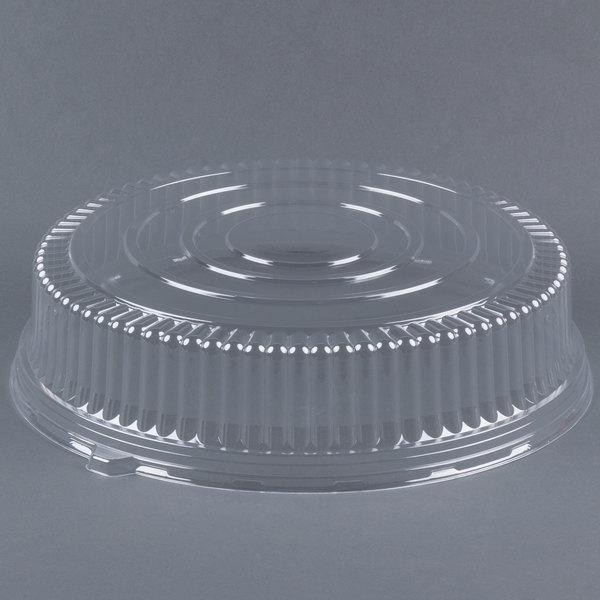 Fineline Platter Pleasers 9801-L 18 inch PET Plastic Round Dome Lid - 25/Case