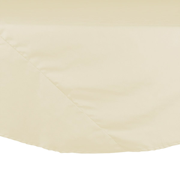 120 inch Ivory Round Hemmed Polyspun Cloth Table Cover