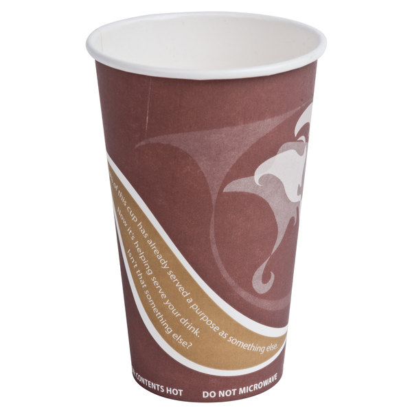 Eco Products EP-BRHC16-EW Evolution World PCF 16 oz. Hot Cups - 50 / Pack