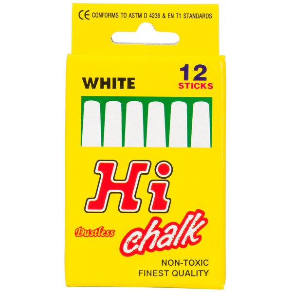 Choice White Chalk  - 12/Box