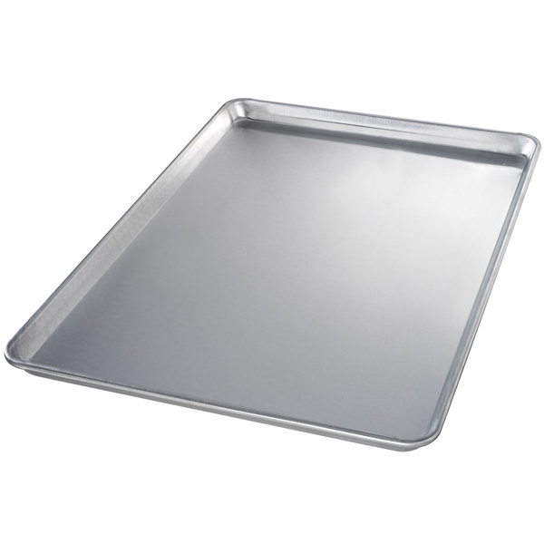 Chicago Metallic 40600 Full Size 12 Gauge Aluminum Sheet Pan - Sanitary Open Bead/Semi-Curled Rim, 18 inch x 26 inch
