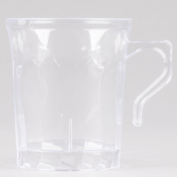 Fineline Flairware 208-CL Clear 8 oz. Plastic Coffee Mug - 288/Case