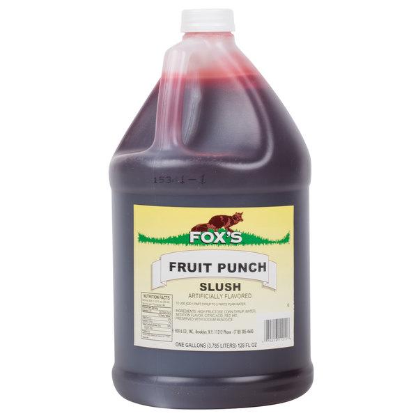 Fox's 1 Gallon Fruit Punch Slush Syrup  - 4/Case