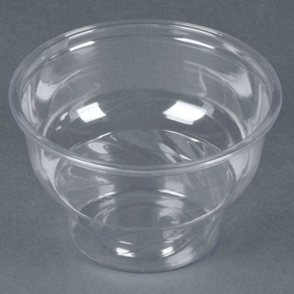 8 oz. Clear PET Sundae Cup - 50 / Pack