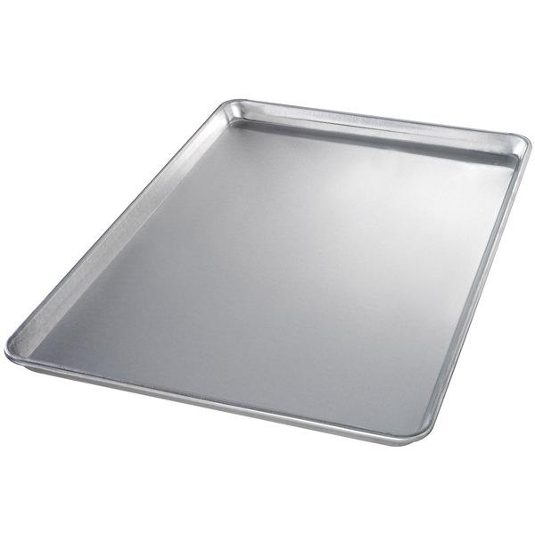 Chicago Metallic 40605 Full Size 12 Gauge Glazed Aluminum Sheet Pan - Sanitary Open Bead/Semi-Curled Rim, 18 inch x 26 inch