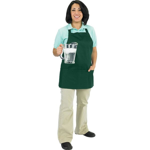 Chef Revival 602BAFH-HG Customizable Professional Front of the House Hunter Green Bib Apron - 28 inchL x 25 inchW