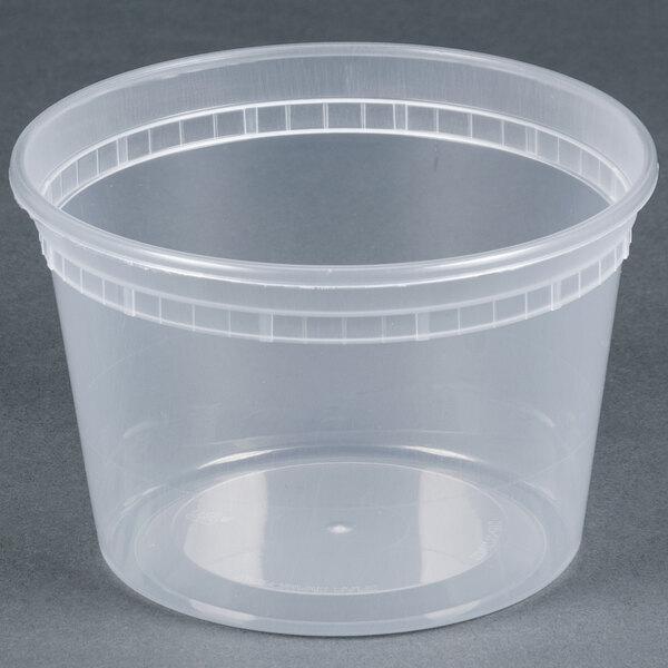 Newspring SD5016Y 16 oz. Translucent Round Deli Container - 480/Case