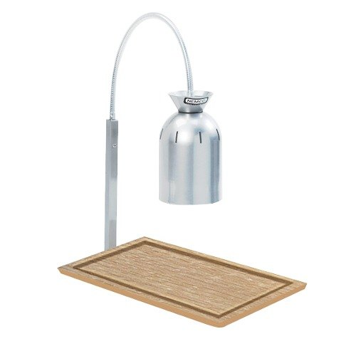 Nemco 6016-C Chrome Single Bulb Carving Station with Wooden Base - 120V