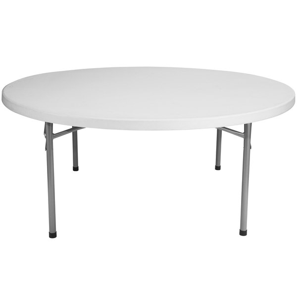 National Public Seating BT71R 71 inch Round Gray Plastic Folding Table