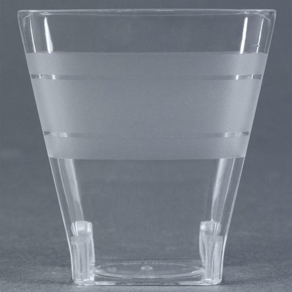 Fineline Wavetrends 1102 Clear Plastic Shot Glass 2 oz. - 432 / Case