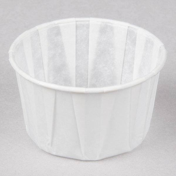 Genpak F325 3.25 oz. Harvest Paper Souffle / Portion Cup - 250/Pack