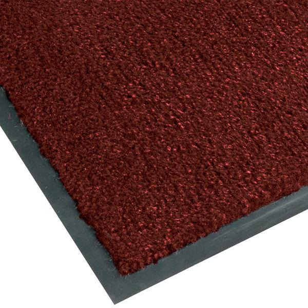 Teknor Apex NoTrax T37 Atlantic Olefin 434-334 3' x 10' Crimson Carpet Entrance Floor Mat - 3/8 inch Thick
