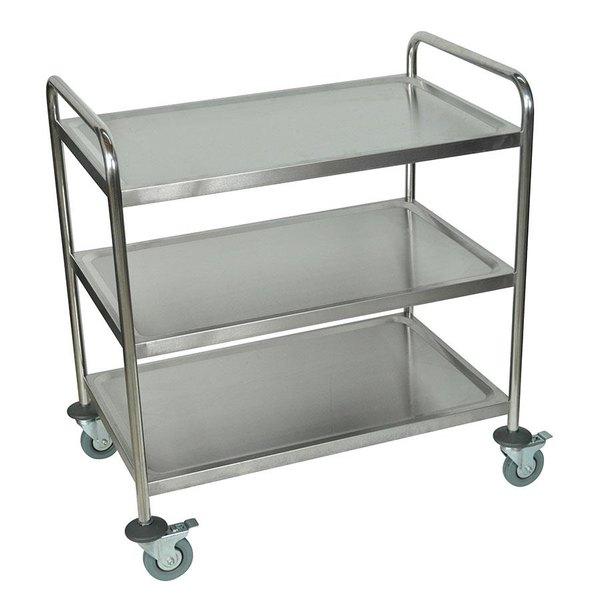 Luxor / H. Wilson ST-3 3 Shelf Stainless Steel Utility Cart / Bus Cart