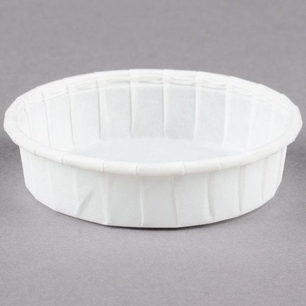 Dart Solo SCC100S 1 oz. Squat Paper Souffle / Portion Cup 5000/Case