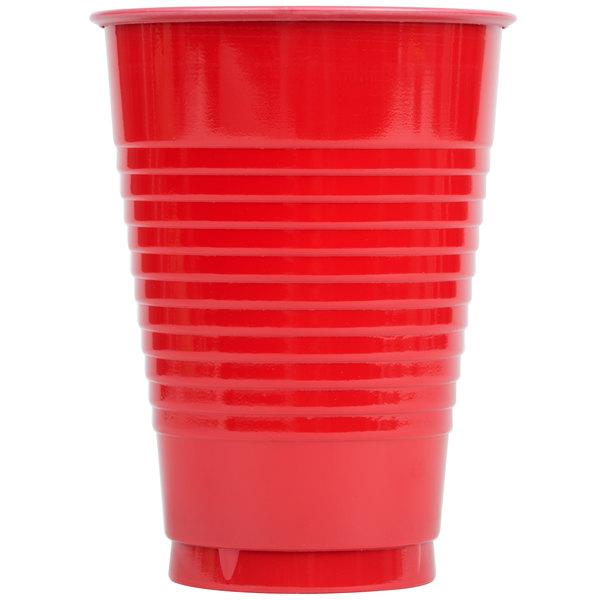 Creative Converting 28103171 12 oz. Classic Red Plastic Cup - 240/Case