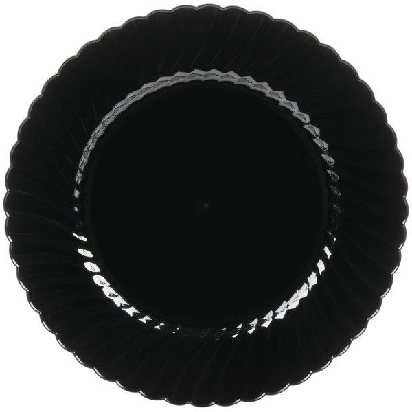 WNA Comet CW10144BK Classicware 10 1/4 inch Black Plastic Plate  - 144/Case