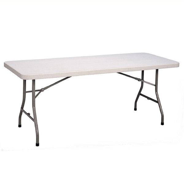 Correll FS3096 30 inch x 96 inch White Granite Plastic Folding Table