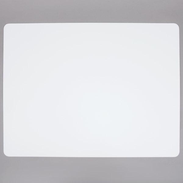 Tablecraft FCB1824W 18 inch x 24 inch White Flexible Cutting Board Set - 6/Pack