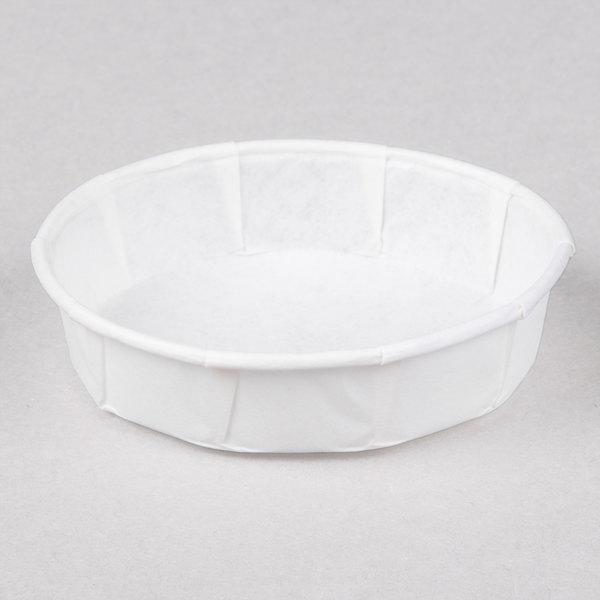 Genpak F100S 1 oz. Squat Harvest Paper Souffle / Portion Cup 5000 / Case