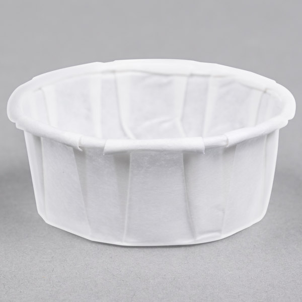Genpak F050S .5 oz. Squat Harvest Paper Souffle / Portion Cup - 250/Pack