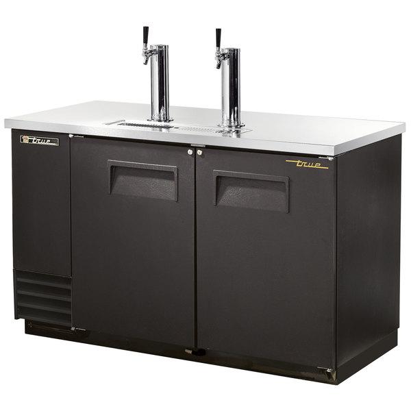True TDD-2 Direct Draw Beer Dispenser 59 inch - 2 Keg Kegerator with 2 Taps