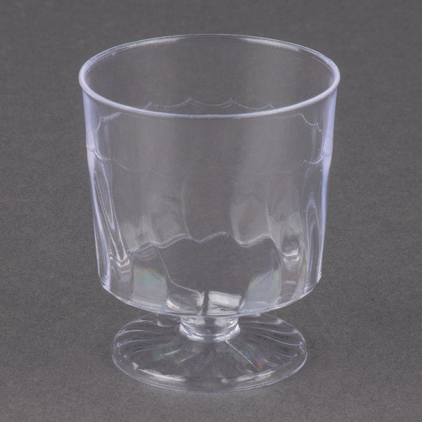 Fineline Flairware 2202 2 oz. Clear Plastic Wine Cup - 1 Piece 10 / Pack