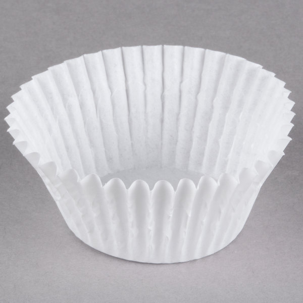 White Fluted Baking Cup 2 inch x 1 1/4 inch - 10,000 / Case