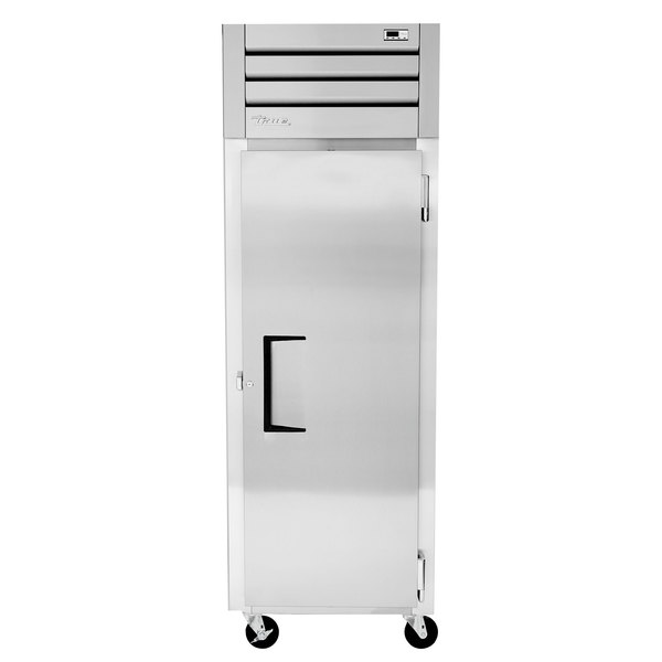 True STM1F-1S 28 inch One Section Solid Door Reach in Freezer