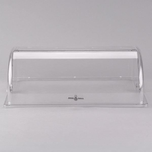 Tablecraft PC1 Rectangular Polycarbonate Roll Top Lid - 21 1/2 inch x 13 1/4 inch x 7 1/2 inch