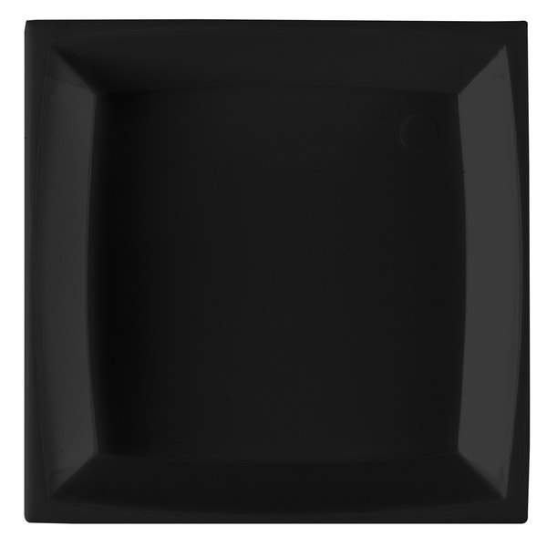 WNA Comet APTSQ25 Petites 2 1/2 inch Black Square Dish 50 / Pack