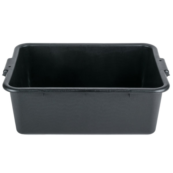 20 inch x 15 inch x 7 inch Black Polypropylene Bus Tub, Bus Box