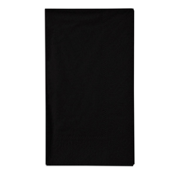 Hoffmaster 180513 Black 15 inch x 17 inch Paper Dinner Napkins 2-Ply - 125 / Pack