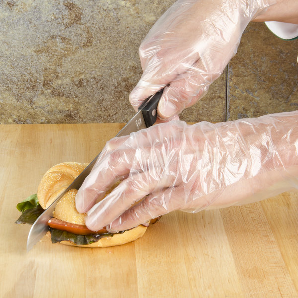 Choice Disposable Poly Gloves Medium For Food Service