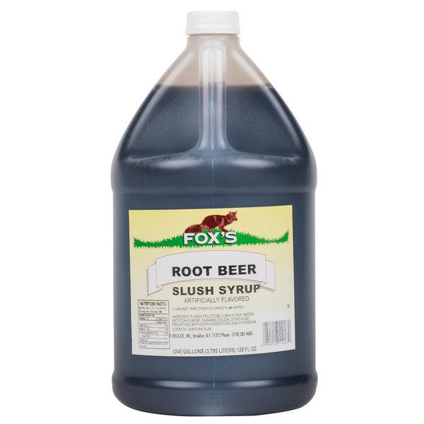 Fox's Root Beer Slush Syrup - 1 Gallon