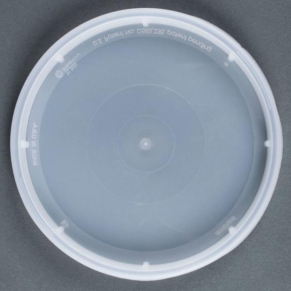 Newspring DELItainer TL500Y Translucent Tamper Resistant Lid - 480/Case