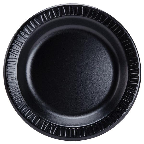 Dart Solo 9PBQR Quiet Classic 9 inch Black Laminated Round Foam Plate - 500/Case