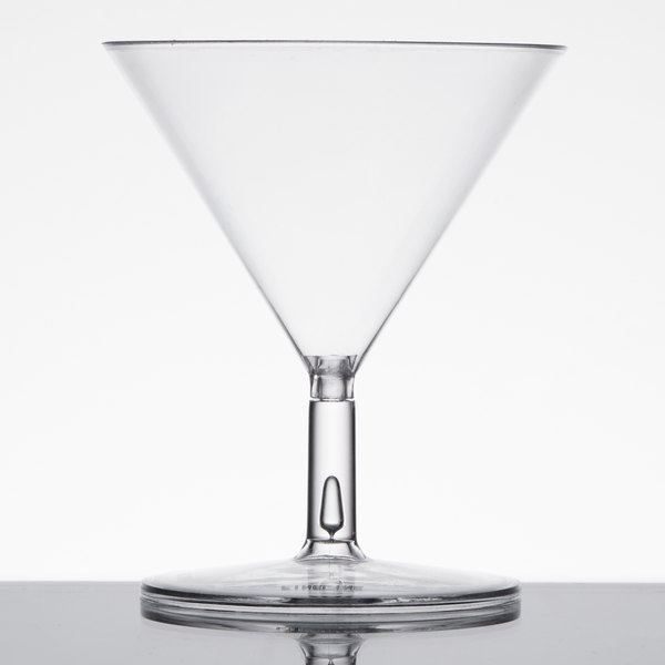 Fineline Tiny Temptations 6401-CL 2 oz. Tiny Tini 2-Piece Clear Plastic Glass - 12/Pack