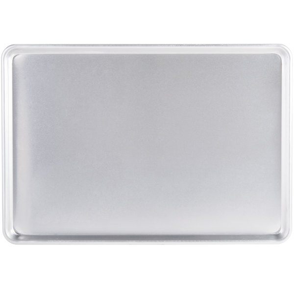 Full Size 12 Gauge 18 inch x 26 inch Sanitary Open Bead Rim Heavy Duty Aluminum Bun / Sheet Pan