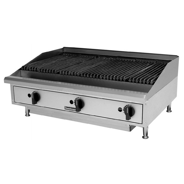Toastmaster TMLC36 36 inch Lava Rock Charbroiler - 90,000 BTU