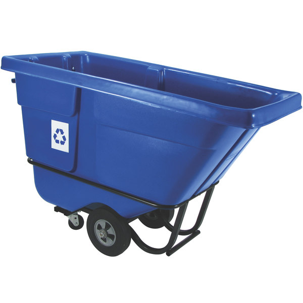 Rubbermaid FG130573BLUE Blue 0.5 Cubic Yard Recycling Tilt Truck (850 lb.)
