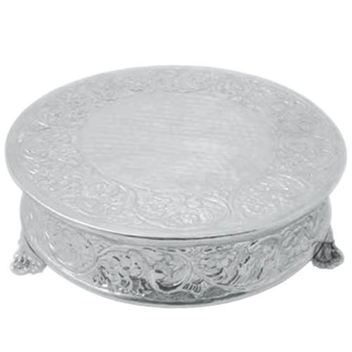 Tabletop Classics AC-88522 22 inch Ornate Nickel Plated Round Cake Stand