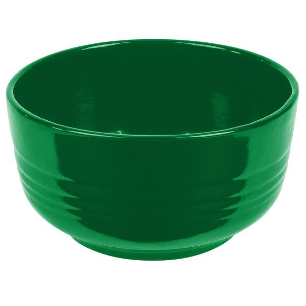 Tablecraft CW3170GN 3.5 Qt. Green Cast Aluminum Fruit Bowl