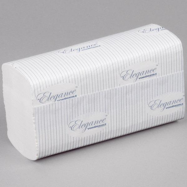 VonDrehle Elegance 548T Premium M-Fold (Multifold) Through-Air-Dry (TAD) Towel White 2800 / Case